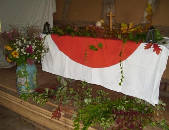 Erntedank-Altar